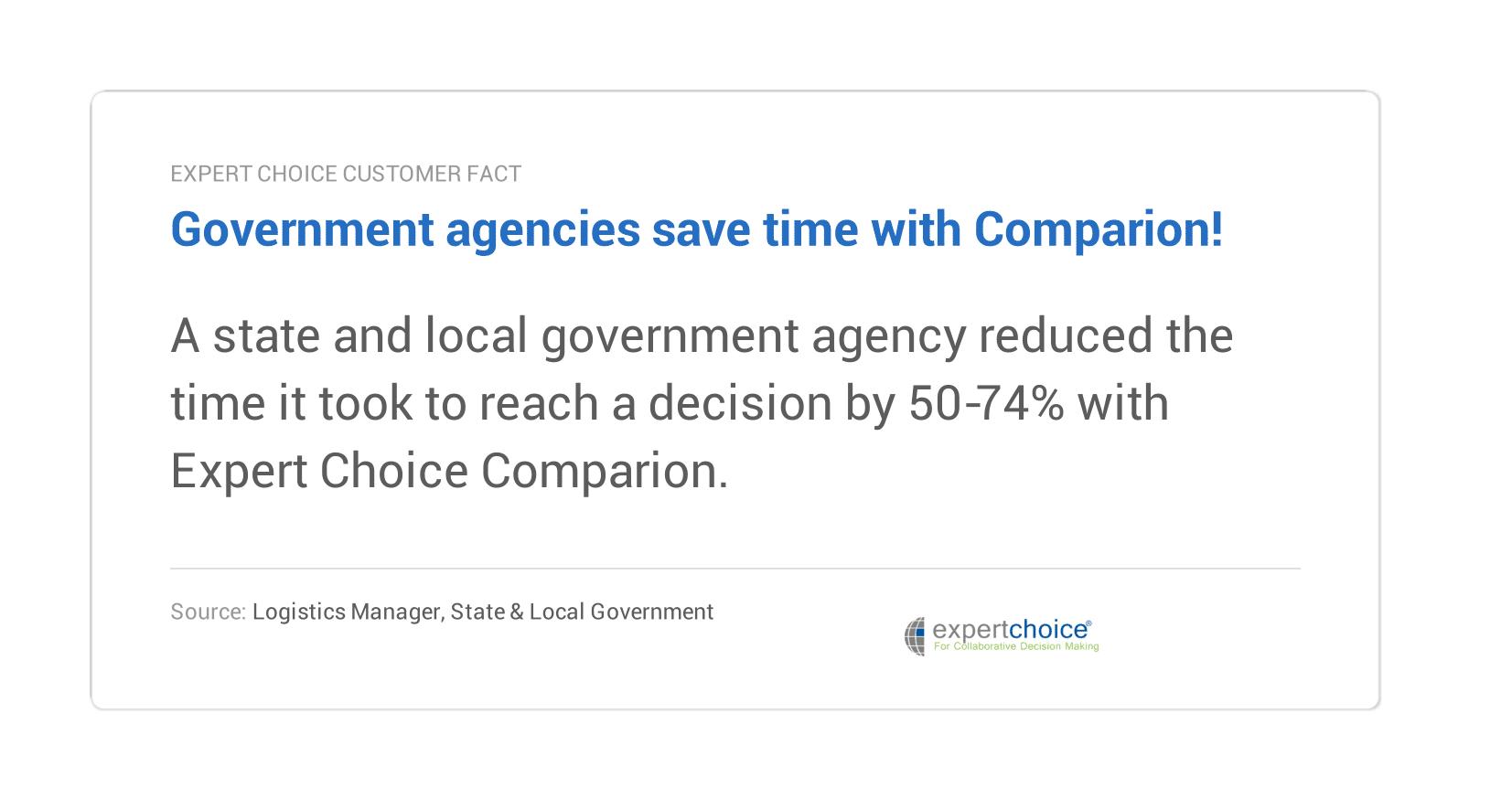 govt agencies save time