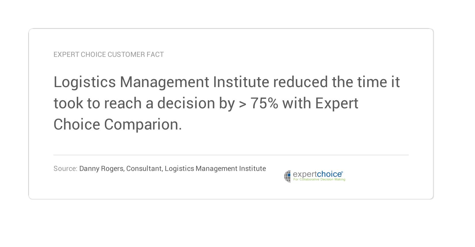 Expert Choice Customer fact
